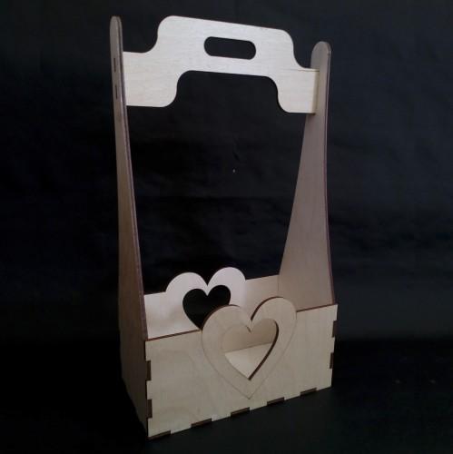 Ящик с сердцем (фанера)