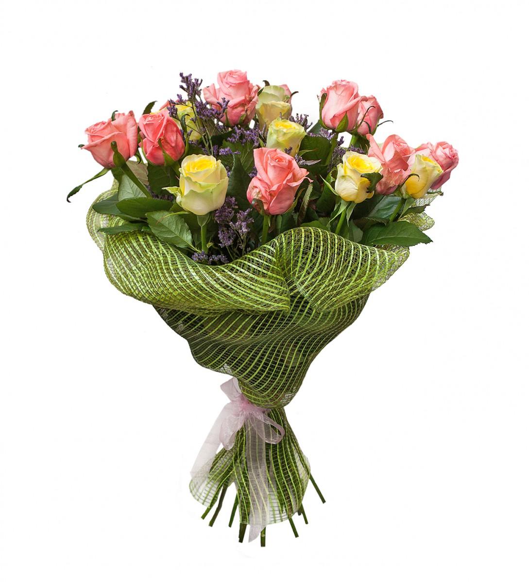Оформление букета флористической сеткой, цветов дзержинске
